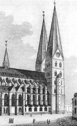 The Marienkirche in Lübeck, where Buxtehude served as organist from 1668 until his death in 1707.